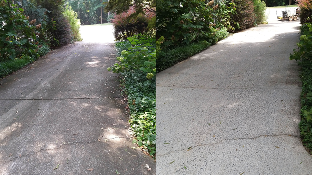 Pressure washing companies concrete cleaning