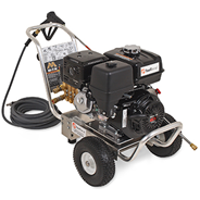 remove oil from concrete with a pressure washer